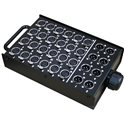 Stage box, 24x XLR Female + 8x XLR Male connectors
